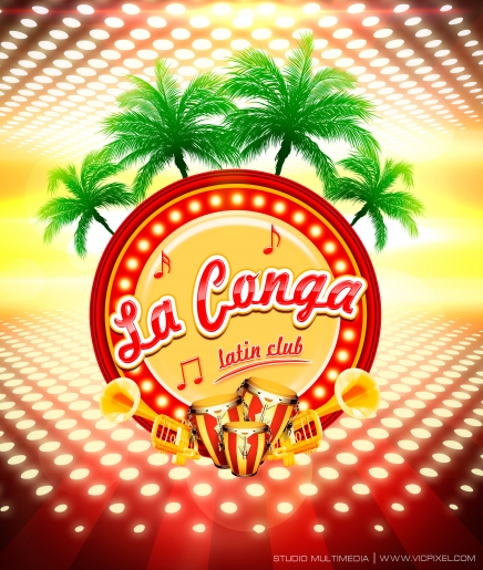 Logotipo La conga Latin Club